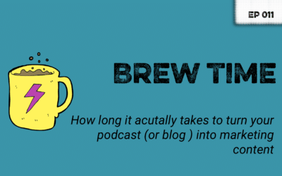 Episode 11 – How long it takes to turn your podcast into marketing content