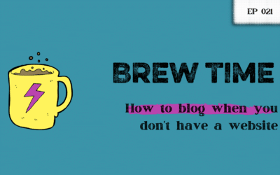 How to blog when you don't have a website