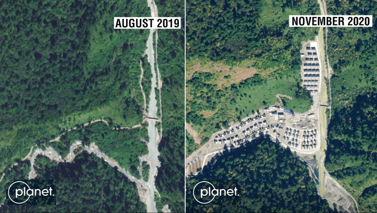 india china arunachal disputed border construction on arunachal pradesh disputed border chinese village in arunachal pradesh