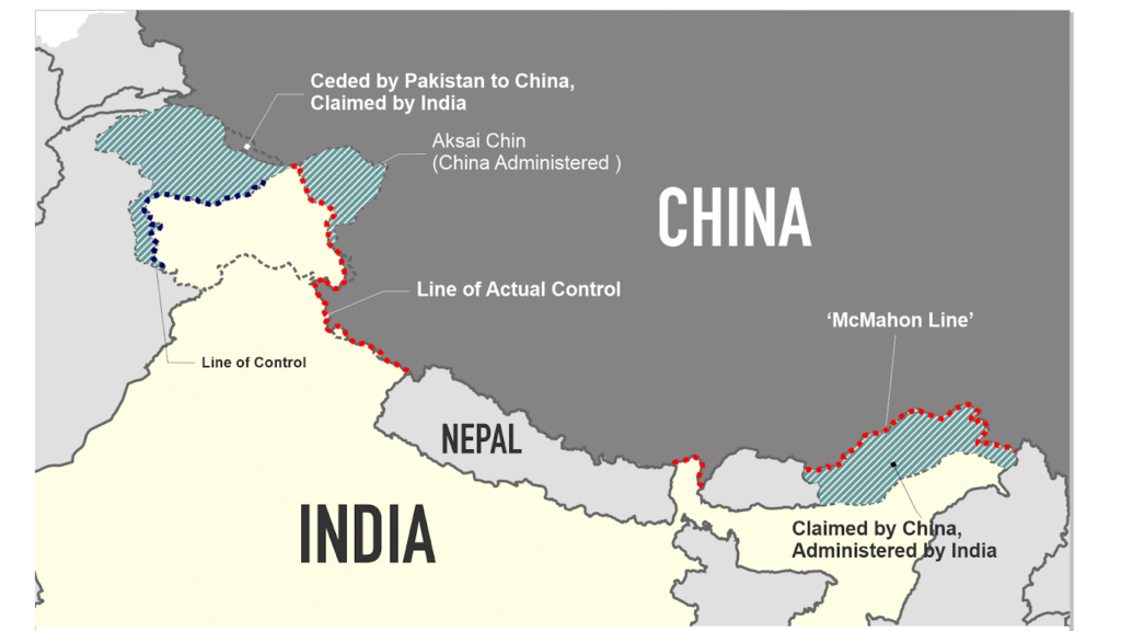india china tibet contested border arunachal pradesh mcmahon line LAC