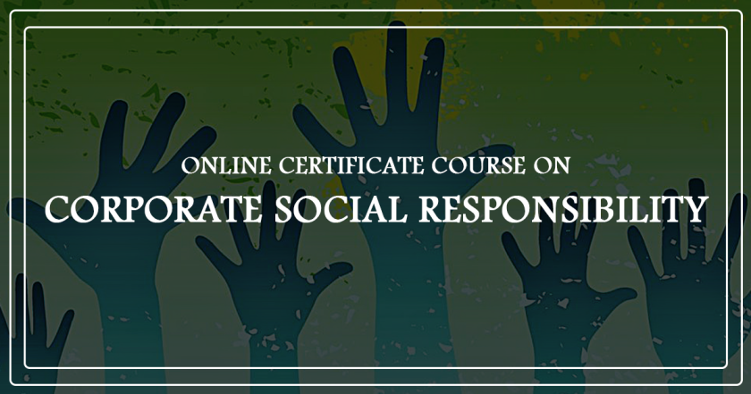 ONLINE COURSE ON CORPORATE SOCIAL RESPONSIBILITY