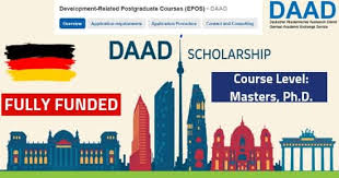 DAAD SCHOLARSHIP PROGRAMME IN GERMANY FOR POSTGRADUATE COURSES 2020/2021