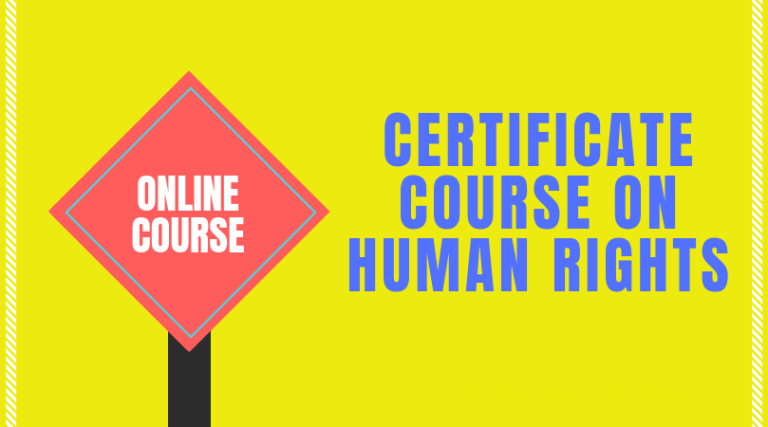 Certificate course on Human Rights @Indian Legal Solution