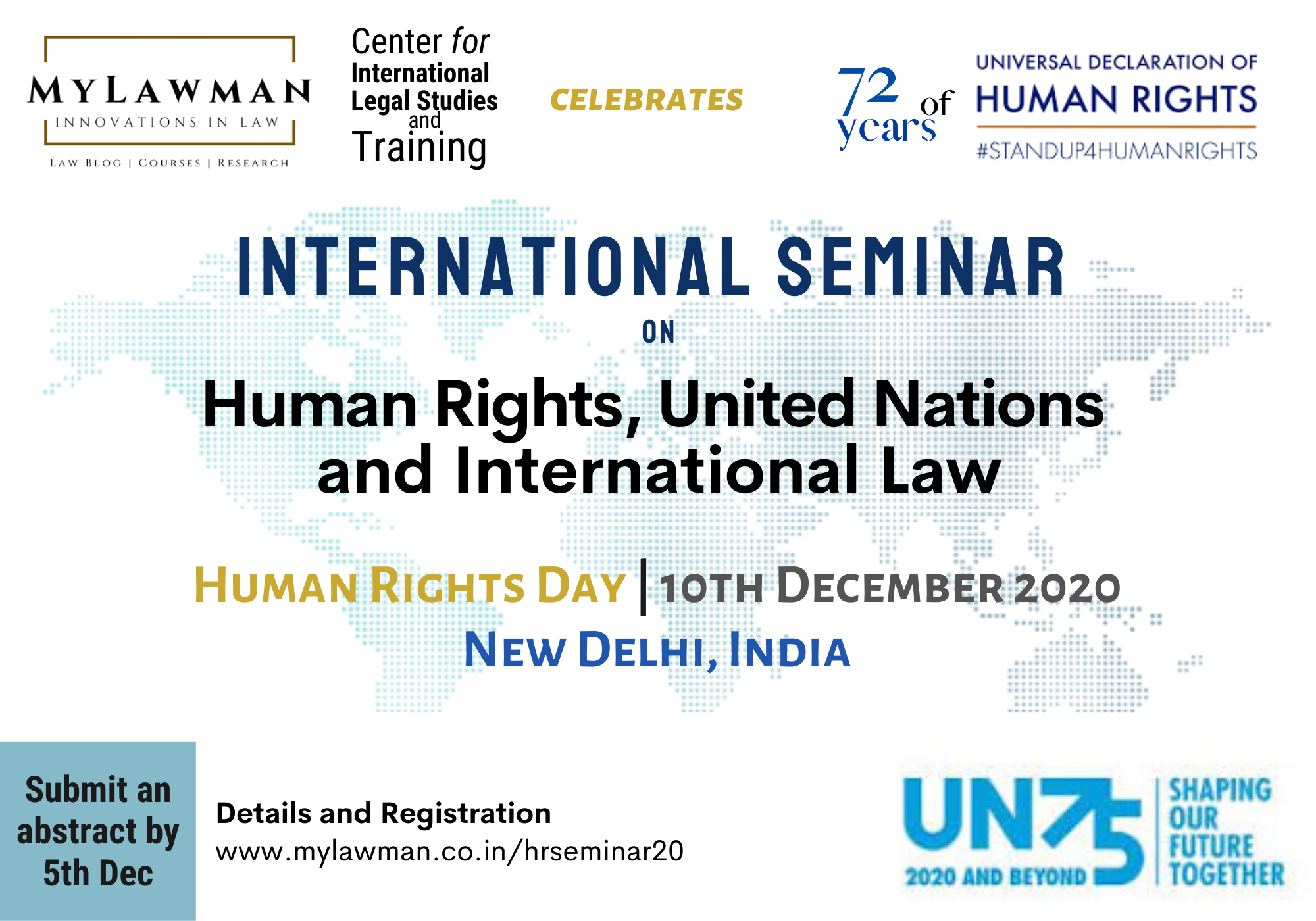 [Call for Paper] International Seminar on Human Rights & International Law on Human Rights Day (10 Dec) by MyLawman [Submit Abstract by 5 Dec]