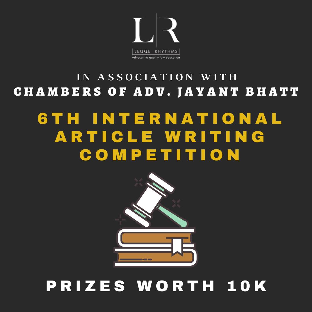 International Essay Writing Competition @ Legge Rhythms, Register by 27 January 2021