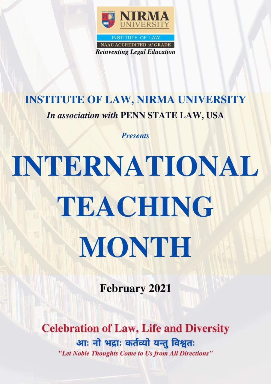 International teaching month by Institute of Law, NIRMA University