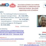 Association of Indian Law Institute Alumni (AILIA) in collaboration with Indian law Institute, New Delhi organizing a series of webinar