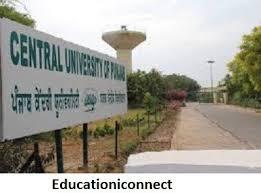 Central University of Punjab Announces Ph.D. Admission for 172 Seats! Online Interview