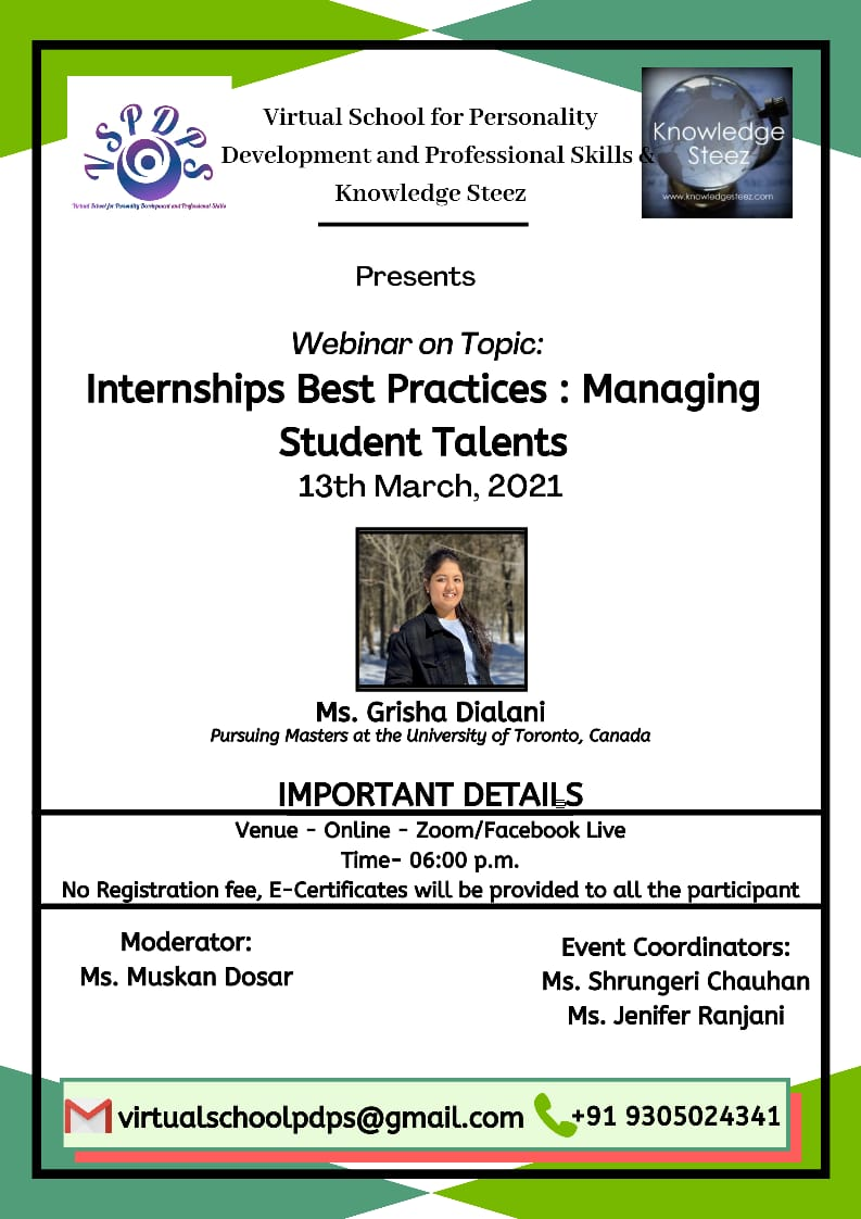 """Webinar on the Topic """"Internships Best Practices: Managing Student Talents"""""""