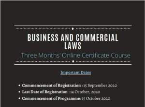 Online Certificate Course on Business and Commercial Laws