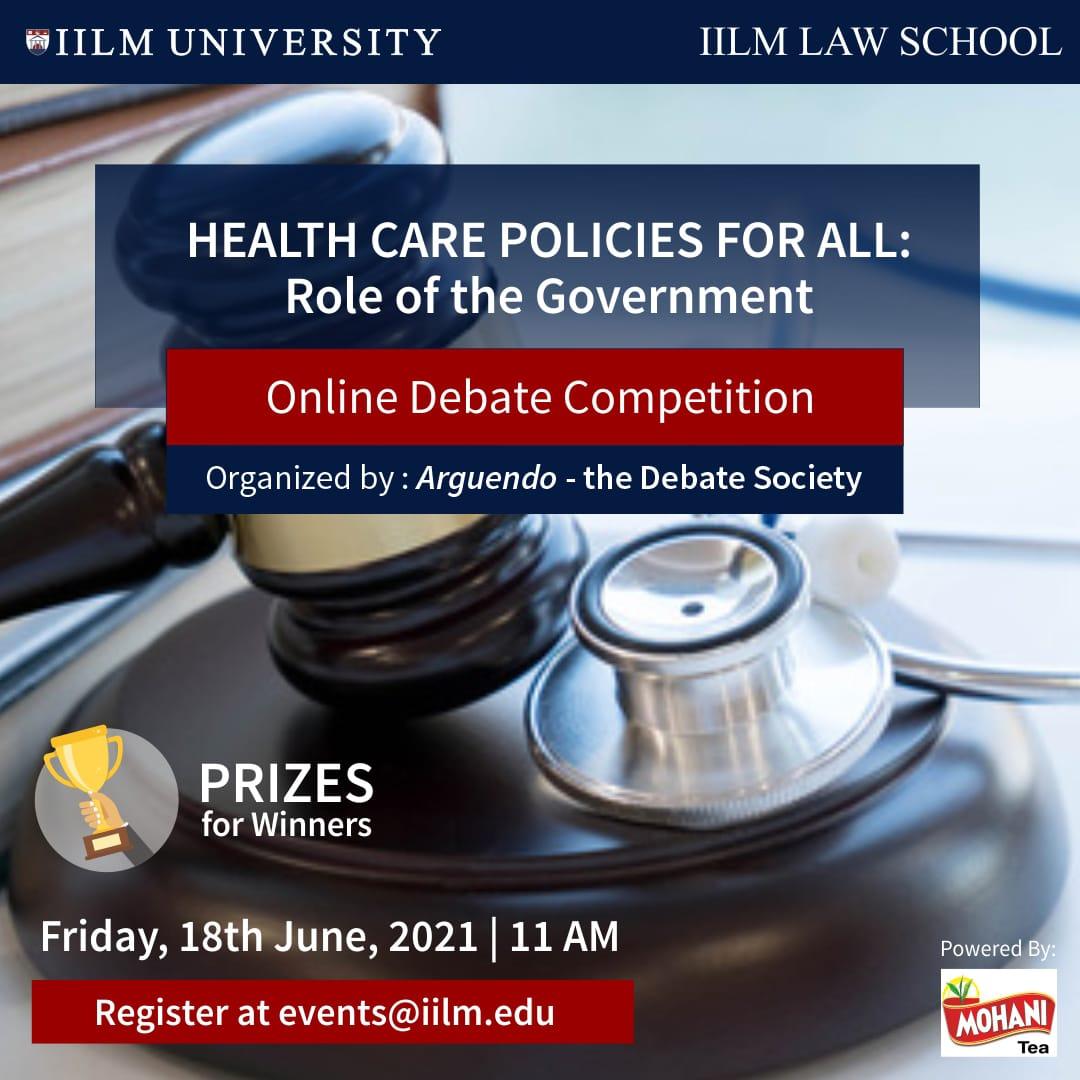 Online Debate Competition: IILM Law School