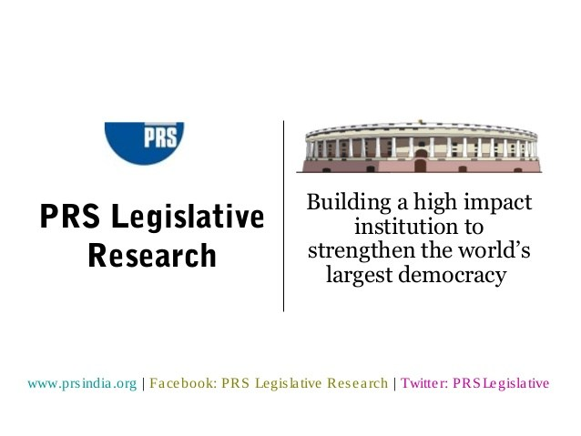 Internship Opportunity at PRS Legislative Research [May & June]: Applications Open