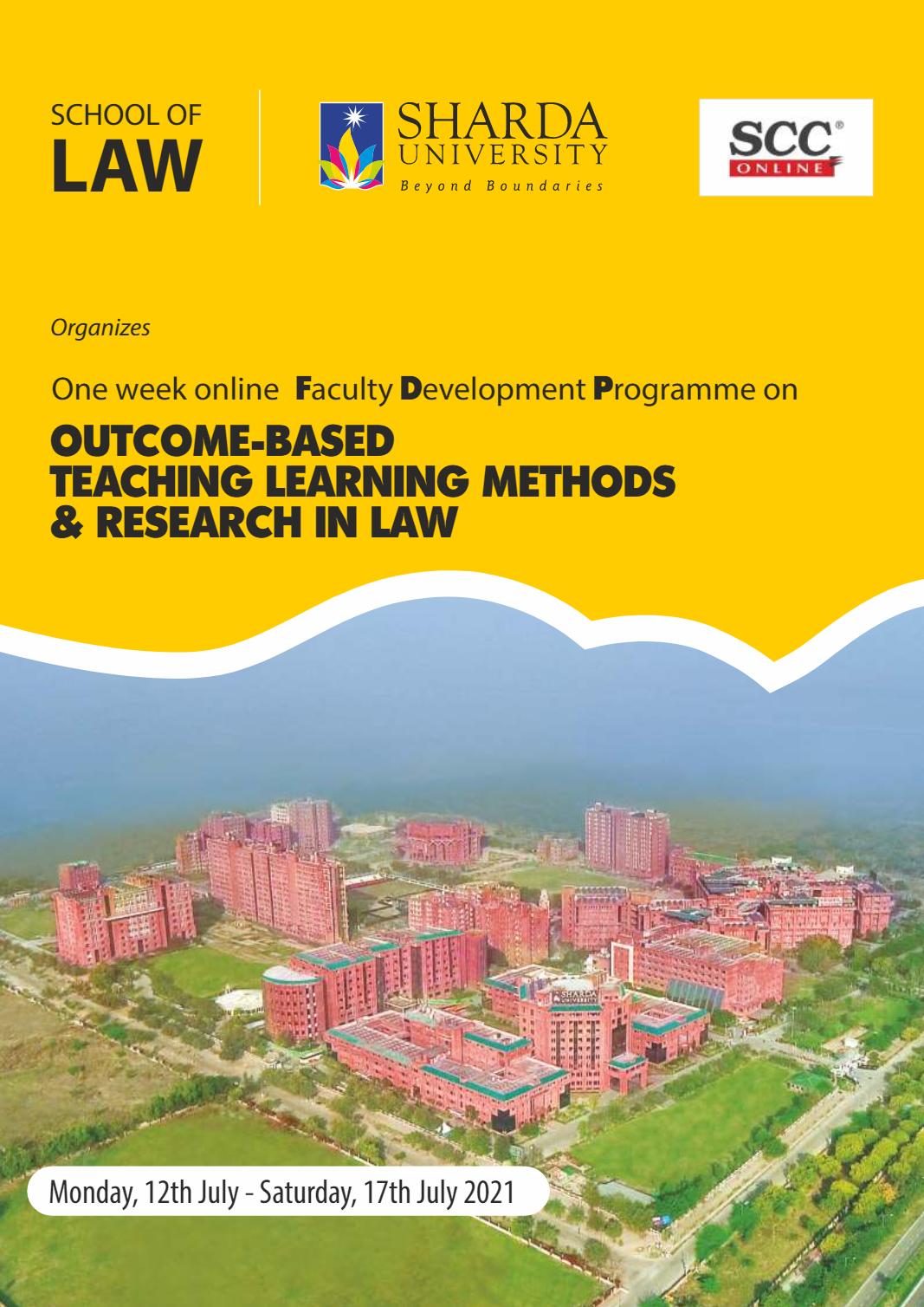 Online Faculty Development Programme at Sharda University: Register Now.