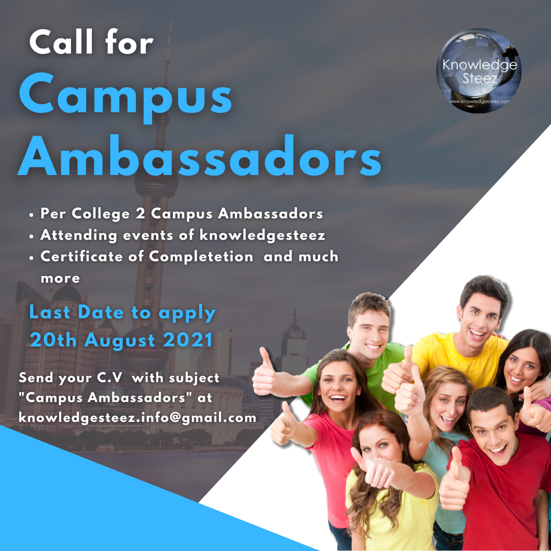 CALL FOR CAMPUS AMBASSADOR: KNOWLEDGE STEEZ