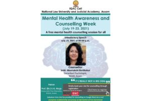 NLUJAA   5 days Mental Health Awareness and Counselling Week Event [July 19-23, 2021]