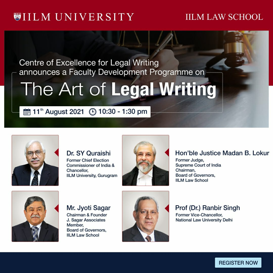 """Faculty Development Programme on """"The Art of Legal Writing"""""""