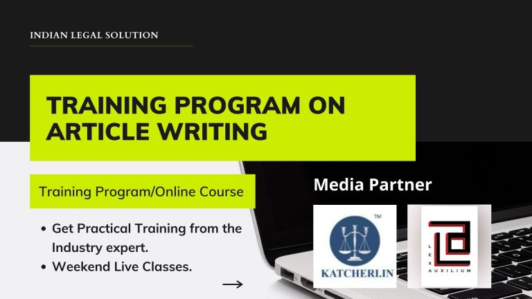Legal Article Writing Training Program with Money Back Guarantee.
