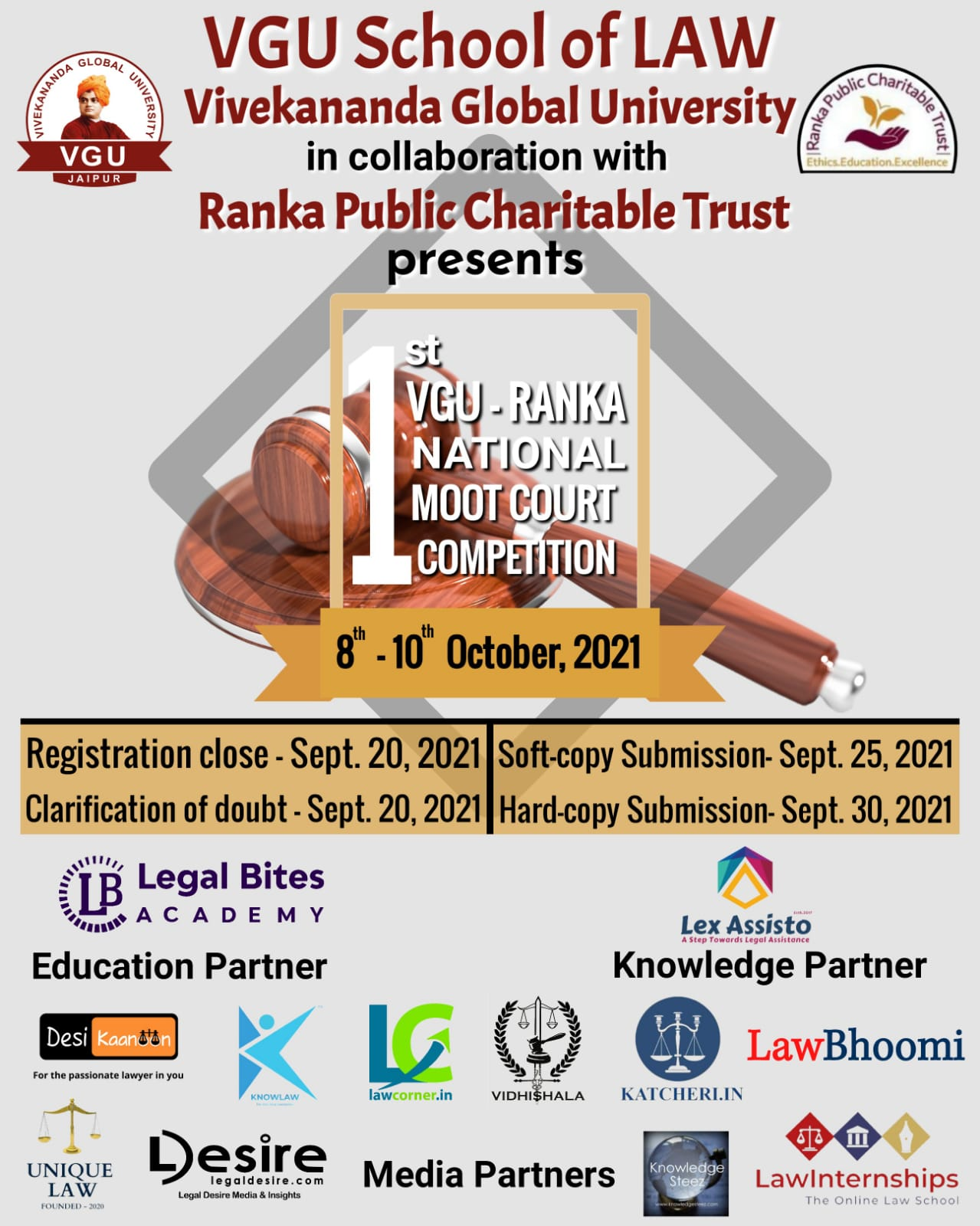 1st VGU RANKA NATIONAL MOOT COURT COMPETITION- 2021