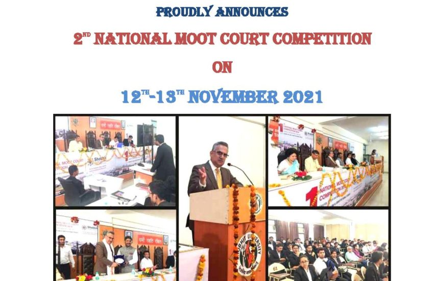 School of Law and Constitutional Studies- 2nd National Moot Court Competition 2021, November 12th-13th, 2021- Register by 30th September 2021