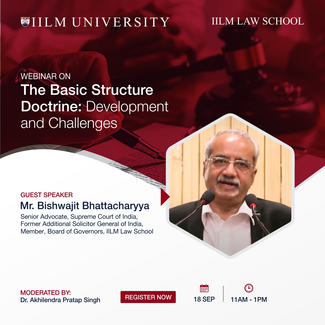 """WEBINAR on """"The Basic Structure Doctrine: Development and Challenges"""""""