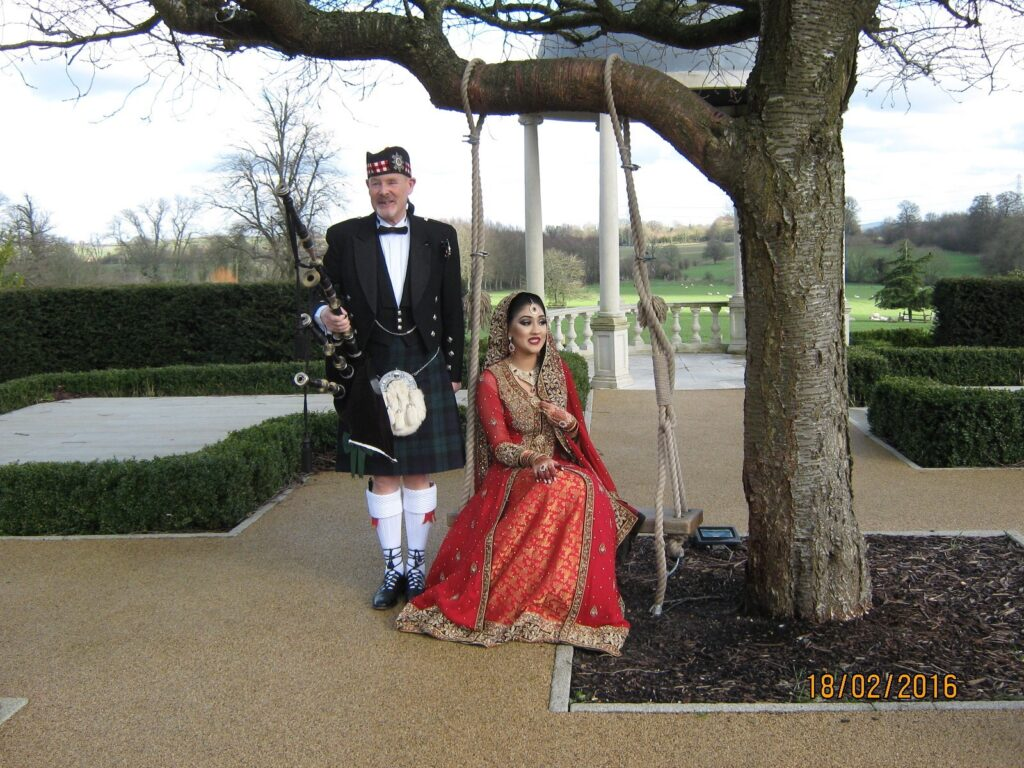 Cultural Wedding BagPiper