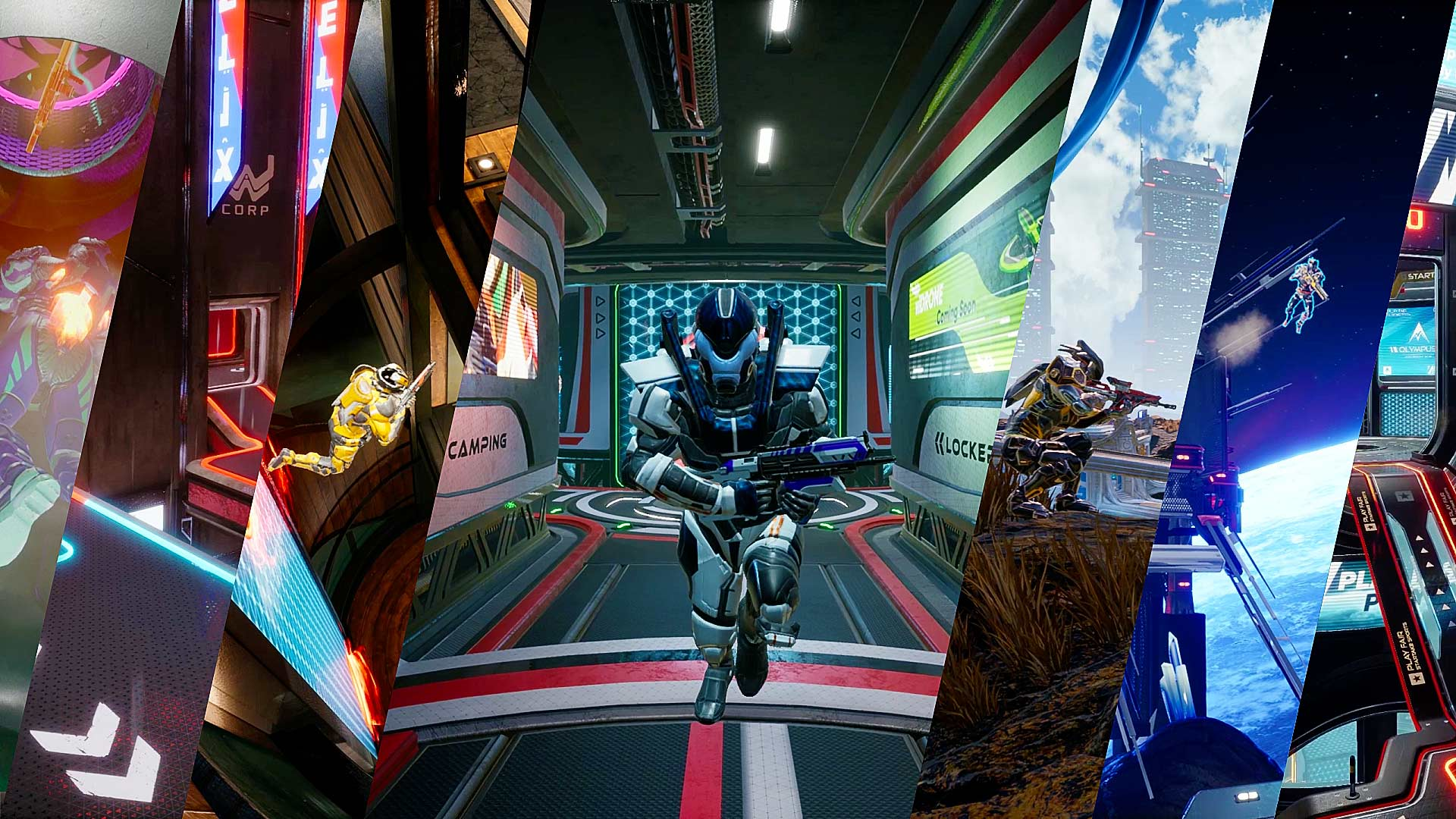 Splitgate Arena Warfare Map Trailers