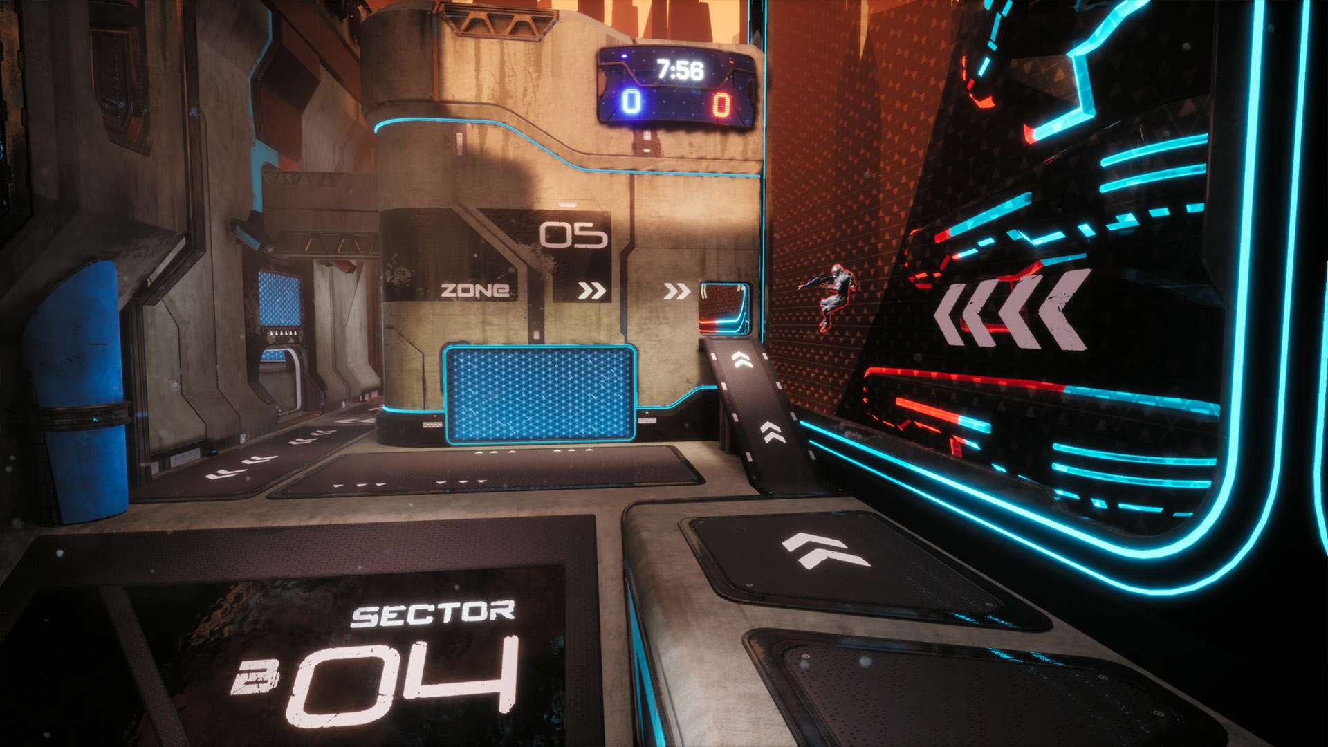 Arrows pointing towards the player in Splitgate Arena Warfare