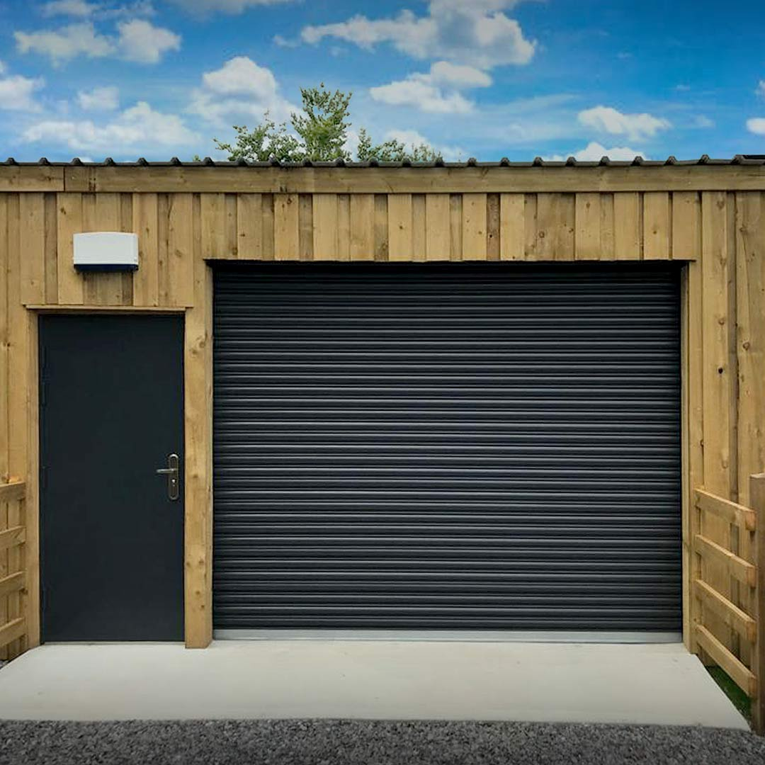Easy-Roll Residential Roller Shutter Garage Door Grey Taunton