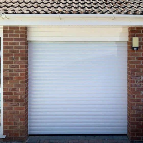 Easy Roll Taunton Roller Shutter Garage Door finished in white