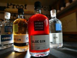 The tasting room awaits customers at Spirit Works Distillery in Sebastopol, Calif., on Wednesday, Feb. 4, 2015. (Kristopher Skinner/Bay Area News Group)