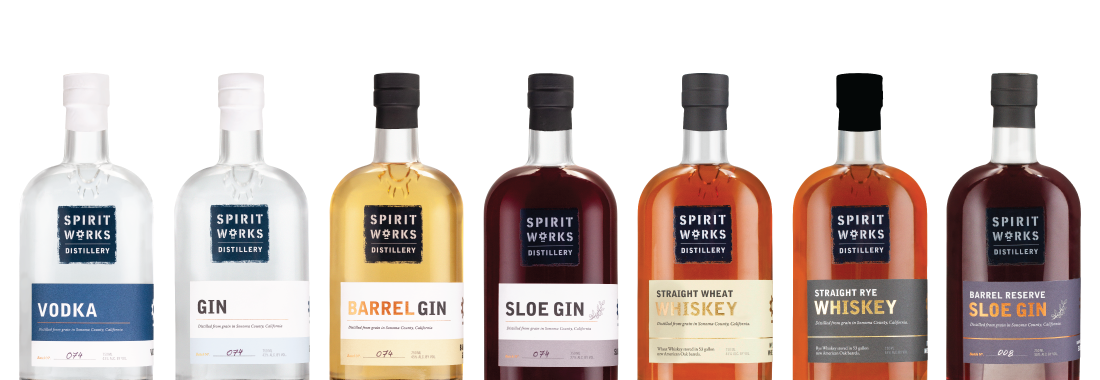 New bottle line up for website spirits page
