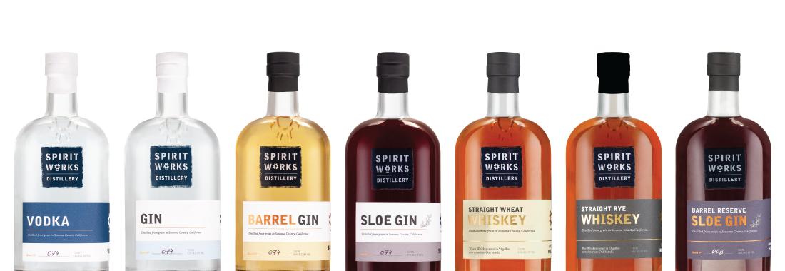 New bottle line up for website spirits page