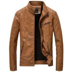 Veste en cuir slim fit mode