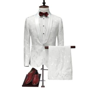 Costume blanc slim fit pas cher