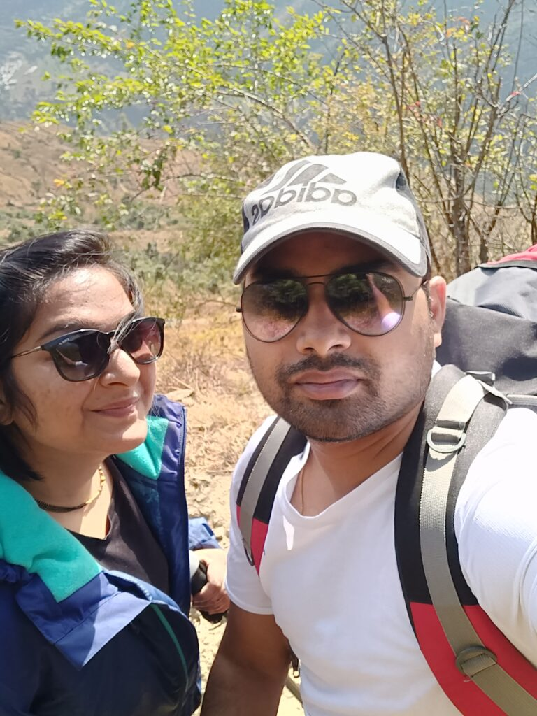 Nag Tibba Trek on the New Year Day with my wife.