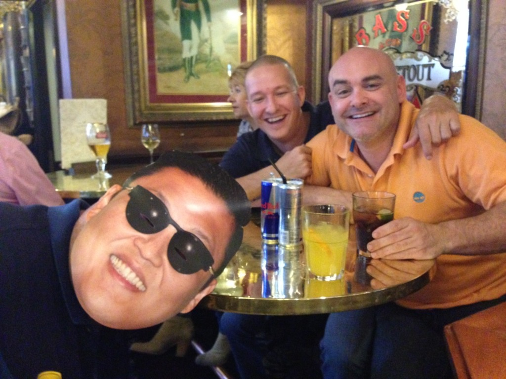 Just like old times in the Duke. Jonas, me and some guy called Ken?