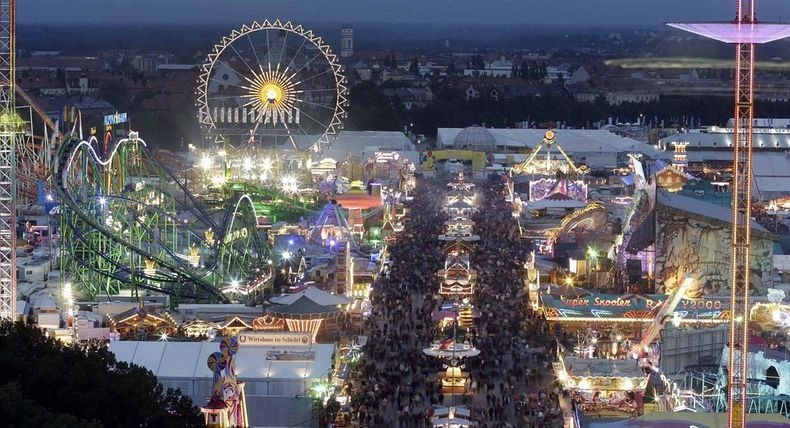 Oktoberfest...a fairground where the main attraction is beer.