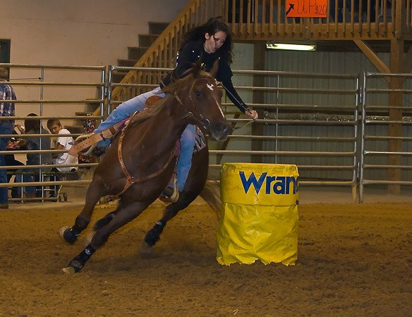 Barrel Racing on Spur