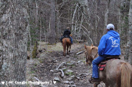 Riding Jackie Street Trail at Mt Rogers