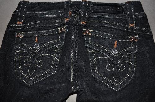 Back Pockets of Rock Revival Jeans