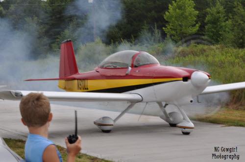 Dad Starting the plane