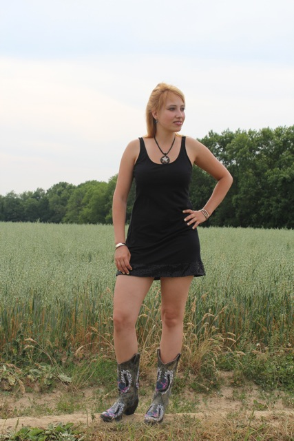 Black Dress and Cowboy Boots