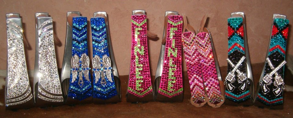 Colorful Bling Saddle Stirrups