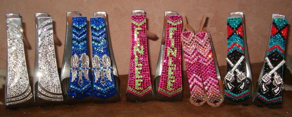 Colorful Bling Saddle Stirrups