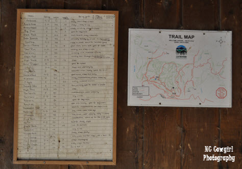 Leatherwood Mountains Trail Map
