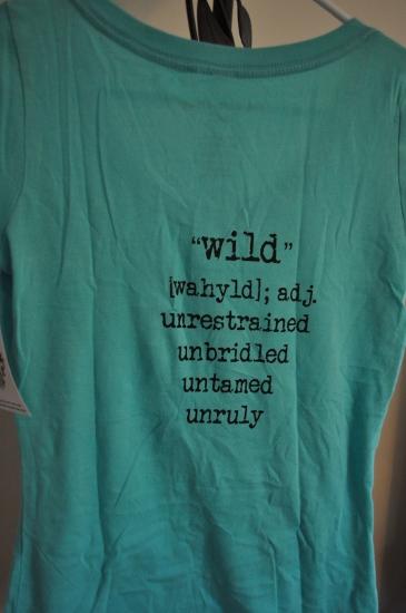 Back of Teal Horse Shirt