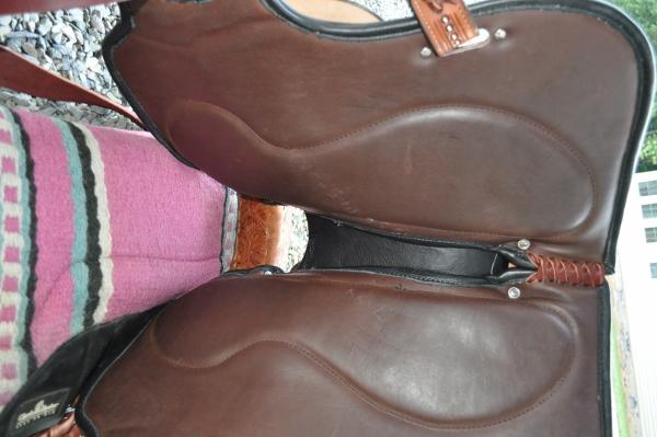 Underside of barrel saddle