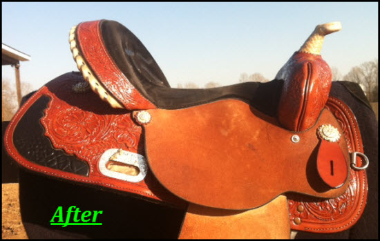 Saddle after I applied Leather Honey