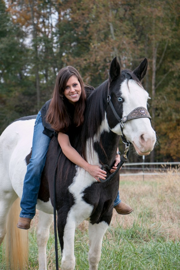 black and white paint horse