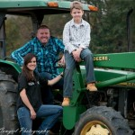 Family Pictures with Tractor